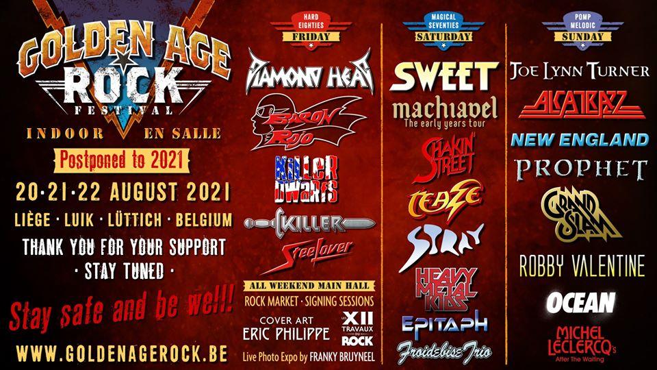 Golden Age Rock Festival – rescheduled for August 2021